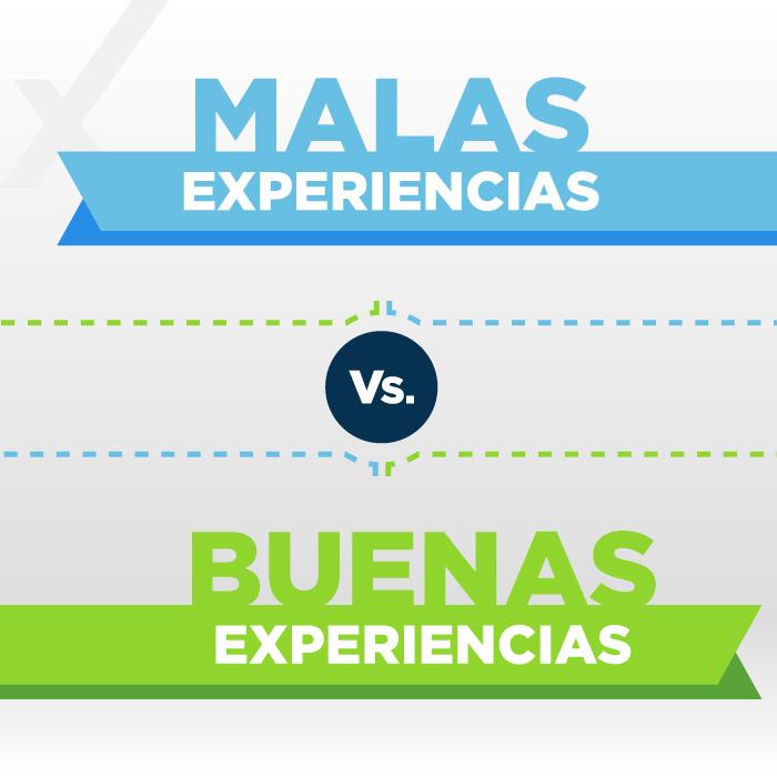 Infografía CX | Malas vs. Buenas experiencias