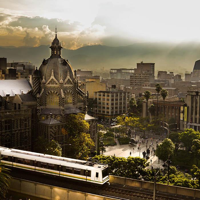 Transmisión desde el metro de Medellín